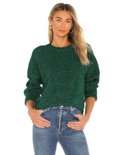 Pistola Green Eva Cropped Sweater