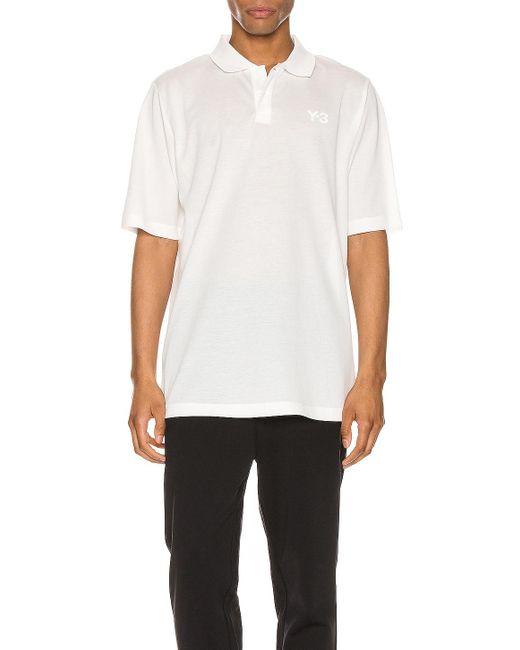 メンズ Y-3 ポロシャツ White