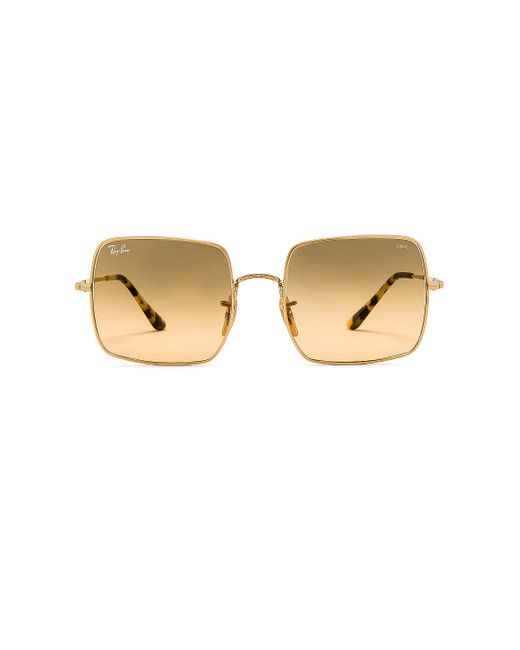 Солнцезащитные Очки Square Evolve В Цвете Gold & Gray Gradient Orange - Metallic Gold. Размер All. Ray-Ban