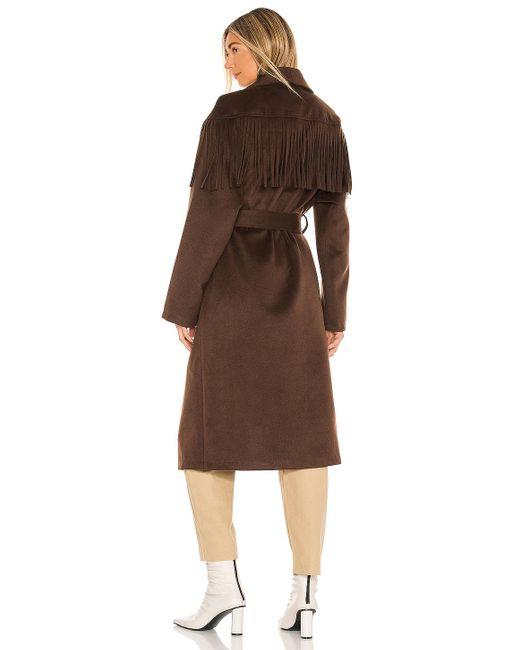 Пальто Pierra В Цвете Коричневый House of Harlow 1960, цвет: Brown
