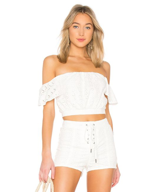 Amuse Society - Look My Way Top In White - Lyst