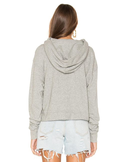 James Perse Relaxed Crop パーカー Gray