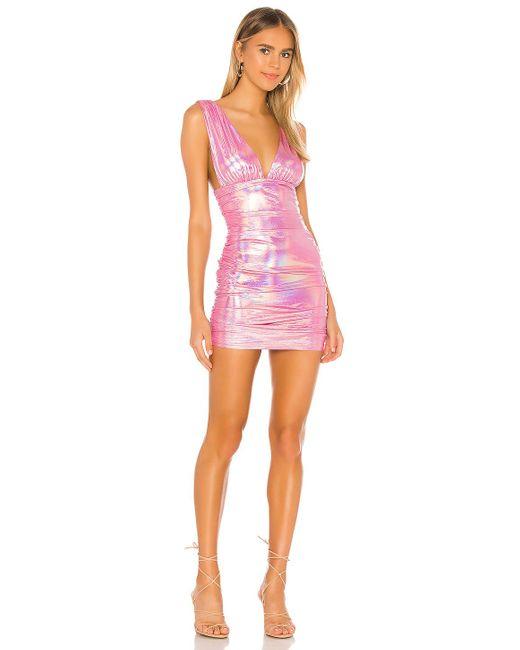 superdown Kerrie ディープvネックドレス Pink