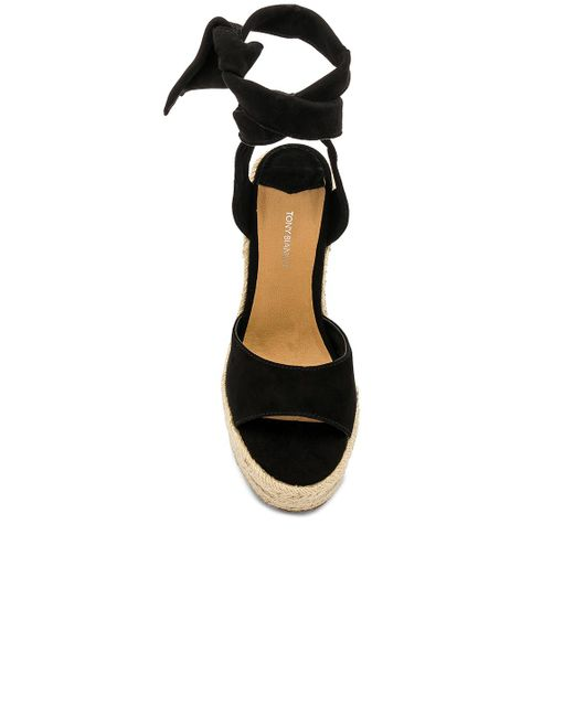 cheapest many styles fantastic savings Tony Bianco Suede Barca Wedge in Black - Save 2% - Lyst