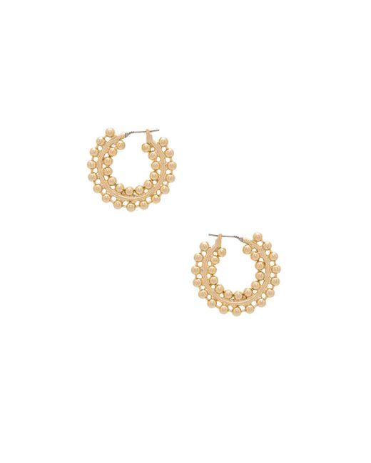 Auden | Metallic Nicoletta Hoop Earrings | Lyst