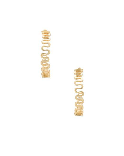Elizabeth and James - Clark Hoops In Metallic Gold. - Lyst