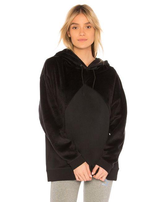 PUMA - Fabric Block Hoodie In Black - Lyst