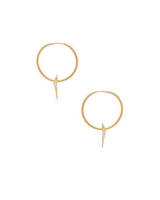 Big Johns Shark Tooth Earrings in Metallic Gold Joolz by Martha Calvo tsOn10