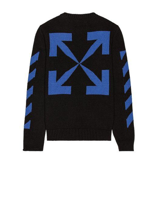 Свитер В Цвете Черный & Синий Off-White c/o Virgil Abloh для него, цвет: Black