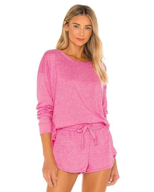 Onzie Pink X REVOLVE High Low Sweatshirt