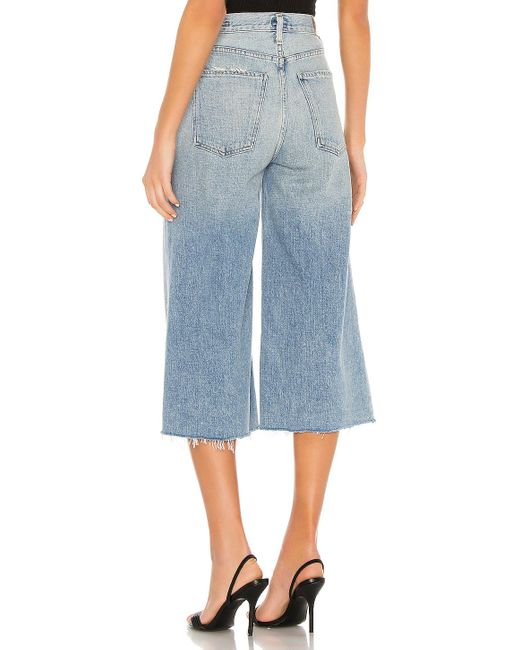 Citizens of Humanity Blue Emily Relaxed Culotte. Size 32.