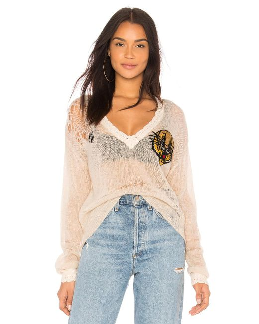 Wildfox - Natural Mascot Sweater In Beige - Lyst