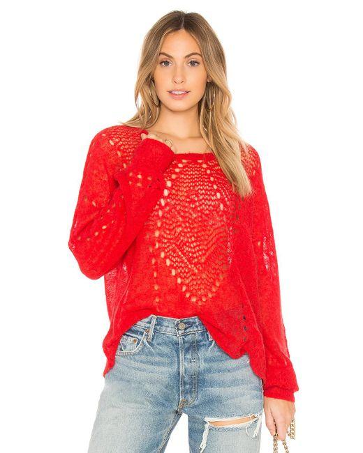 Wildfox - Solid Sweatshirt In Red - Lyst