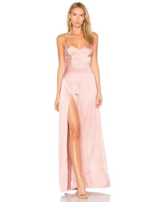 Michelle Mason - Bustier Gown In Pink - Lyst