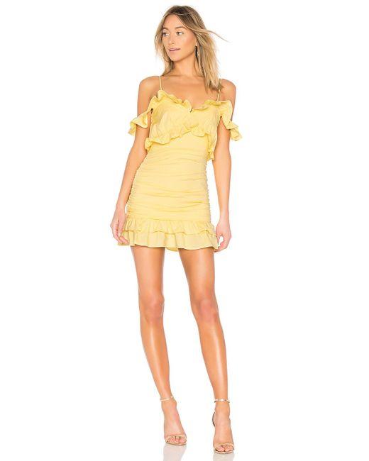 Lovers + Friends Yellow Kleid Donna