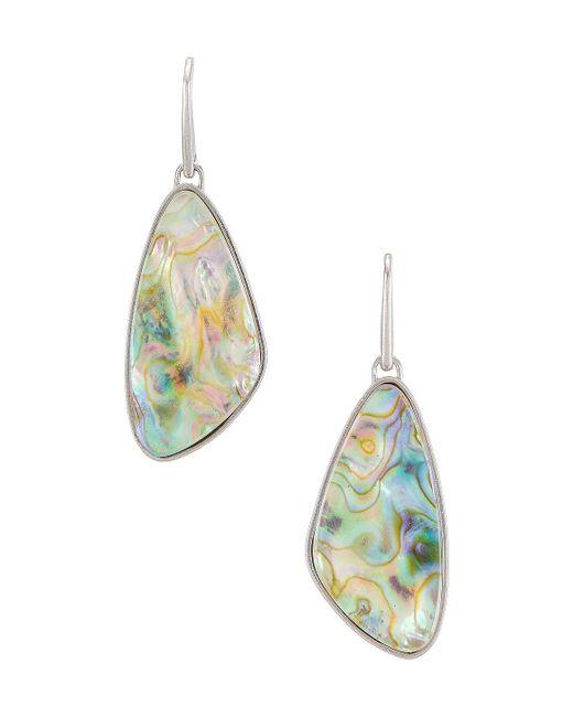 Свисающие Серьги Mckenna В Цвете Rhodium Iridescent Abalone Kendra Scott, цвет: Multicolor