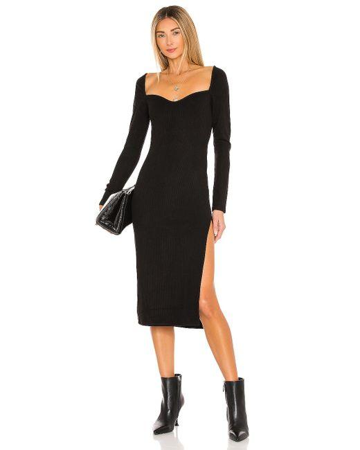 Lovers + Friends Black Femme Midi Dress