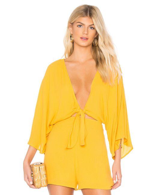 Rachel Pally - Yellow Reversible Tie Top In Mustard - Lyst