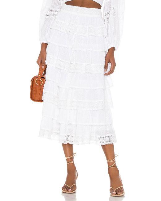 LoveShackFancy Borneo スカート White