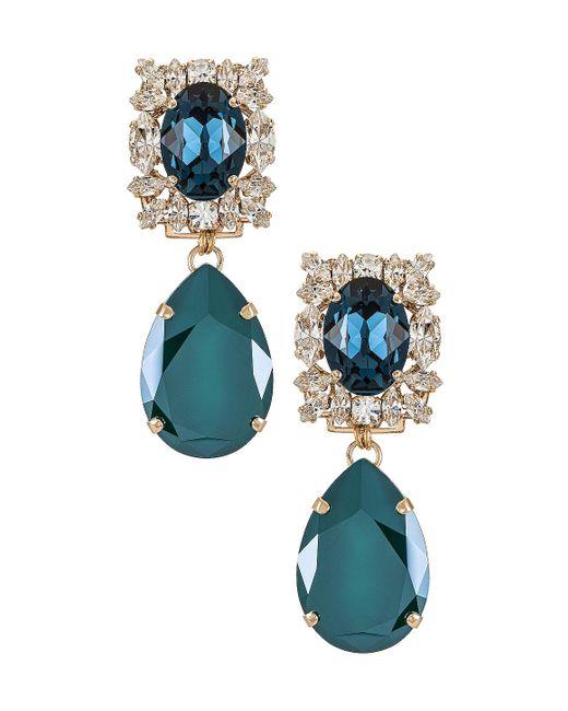 Свисающие Серьги Crystal В Цвете Синий & Зеленый Anton Heunis, цвет: Multicolor