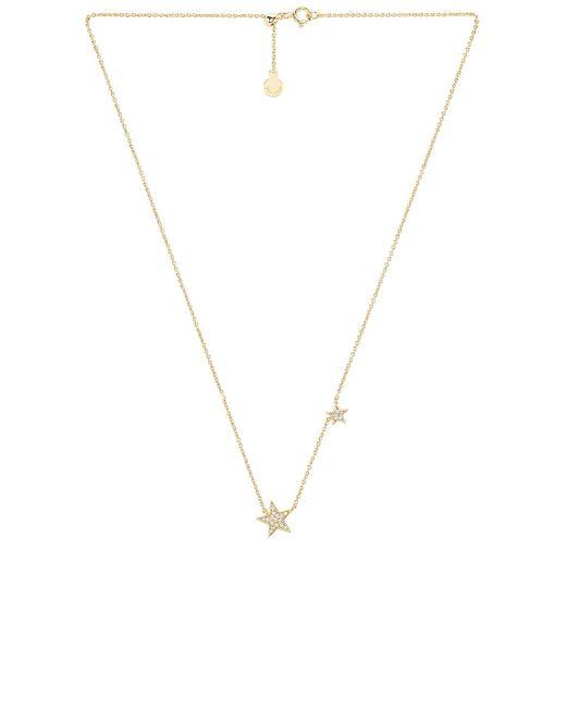 Ожерелье Super Star В Цвете Белый Фианитовый Золотой Gorjana, цвет: Metallic