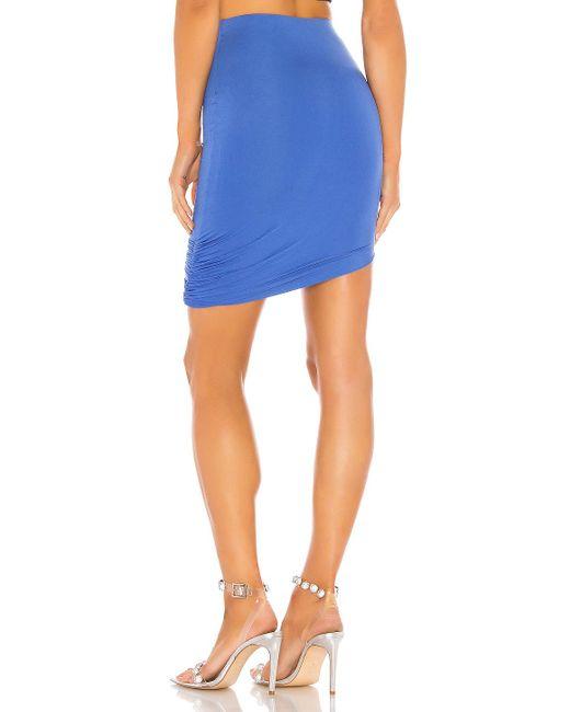 Драпированная Мини Юбка Jules В Цвете Синий superdown, цвет: Blue