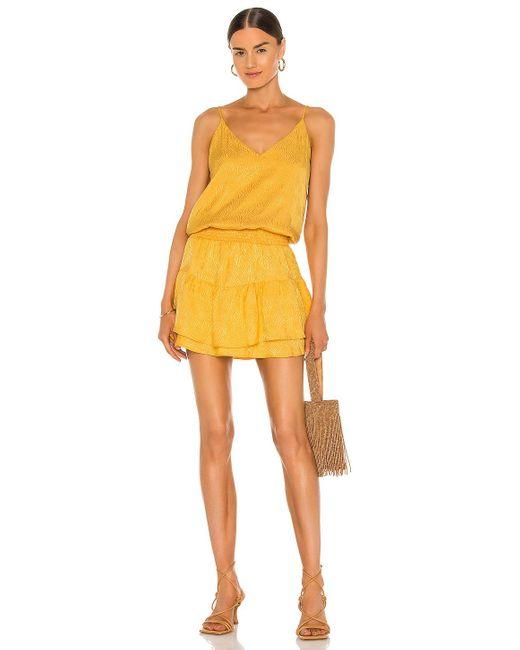Krisa ミニドレス Yellow