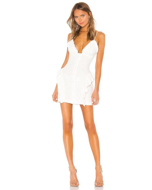 Nbd White Ruby Mini Dress