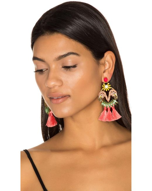 Elizabeth Cole | Multicolor Tassel Earrings | Lyst