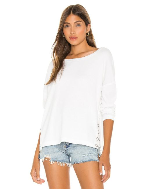 Chaser Snap Side セーター White