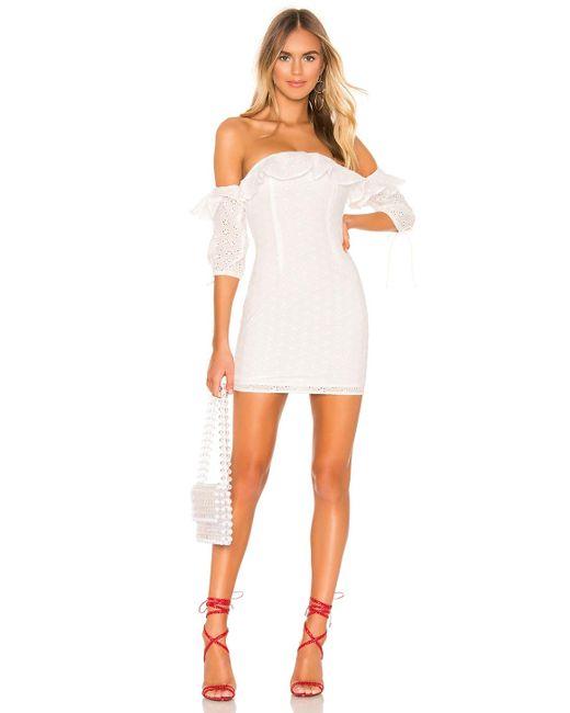Платье Ruffle Martina В Цвете Белый superdown, цвет: White
