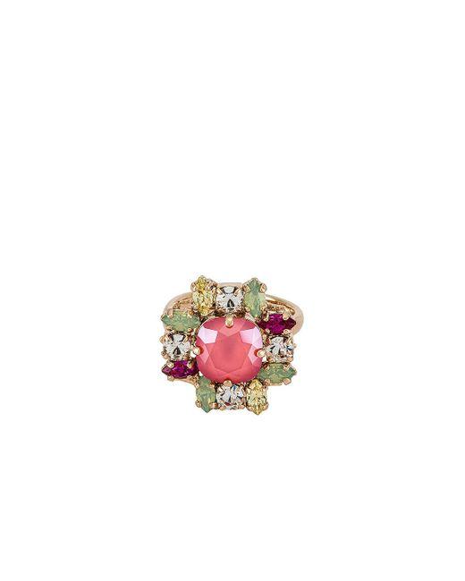 Anton Heunis Pink Crystal Cluster Ring