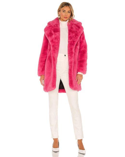 Куртка Из Искусственного Меха Sasha В Цвете Bubble Pink Apparis