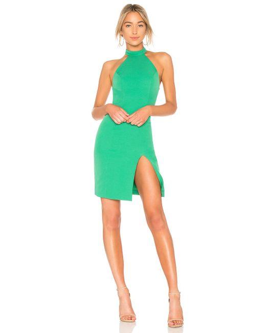 Vestido midi con raja sugar pine Nbd de color Green