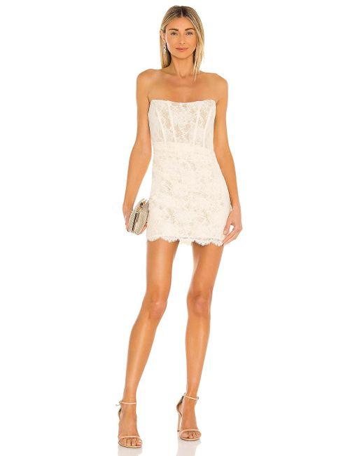 Nbd White Belladonna Mini Dress