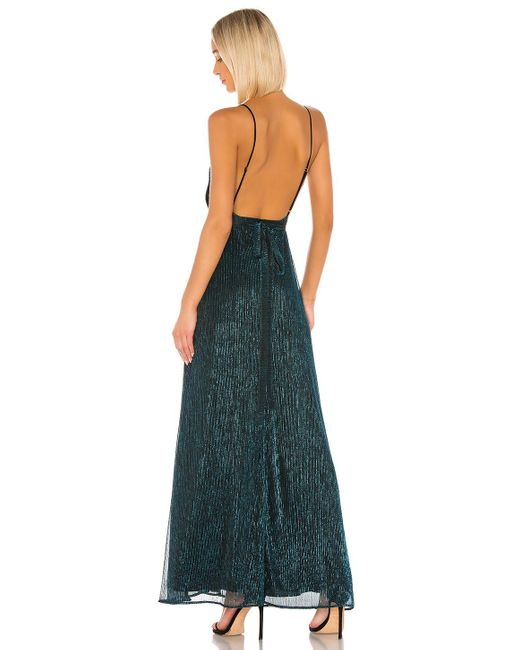 Vestido largo harper Michael Costello de color Blue