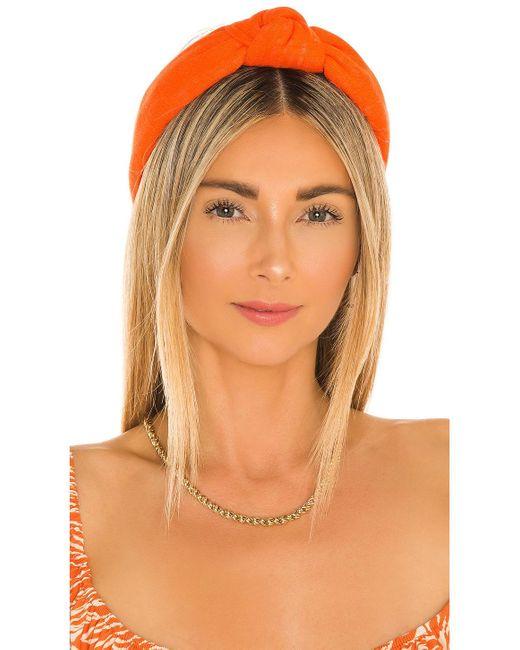 Обруч Knotted В Цвете Оранжевый Lele Sadoughi, цвет: Orange