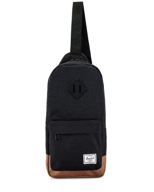 Сумка Heritage В Цвете Черный Herschel Supply Co., цвет: Black