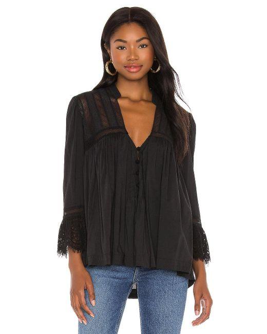 Рубашка Esme В Цвете Черный Free People, цвет: Black