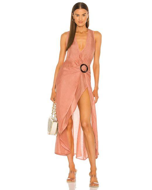 Cult Gaia Pink Solene Dress
