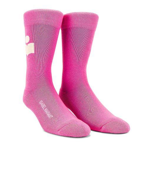 Isabel Marant Siloki ソックス Pink