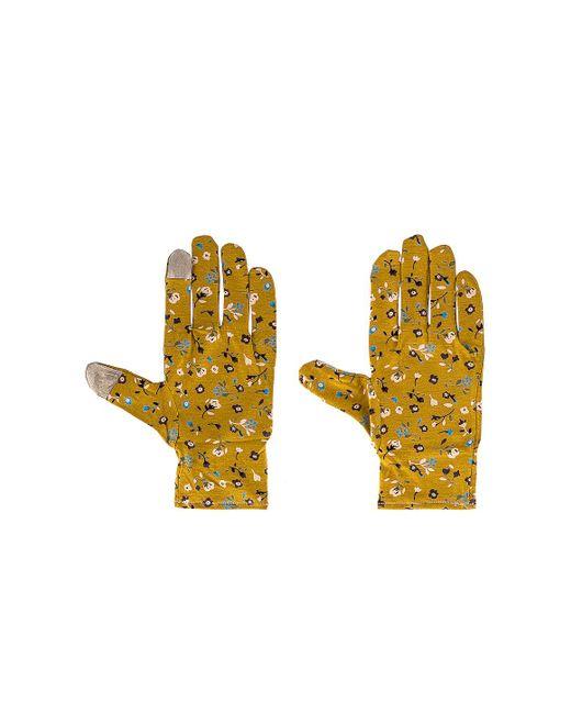Стирающиеся Перчатки В Цвете Горчичный - Mustard. Размер All. Lele Sadoughi, цвет: Yellow