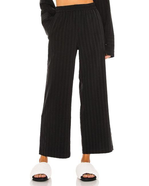 L'academie Elastic Waist パンツ Black