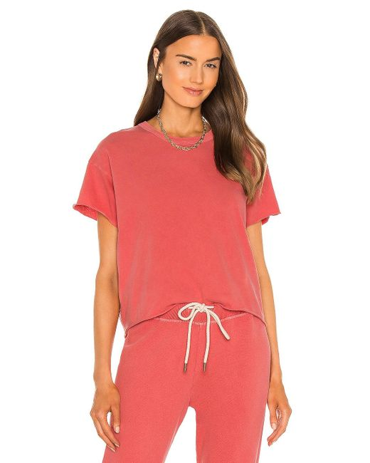 The Great Tシャツ In Coral. Size 0 / Xs, 2 / M. Pink