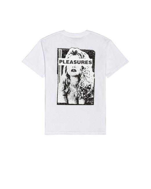 メンズ Pleasures Hate Free Tシャツ White