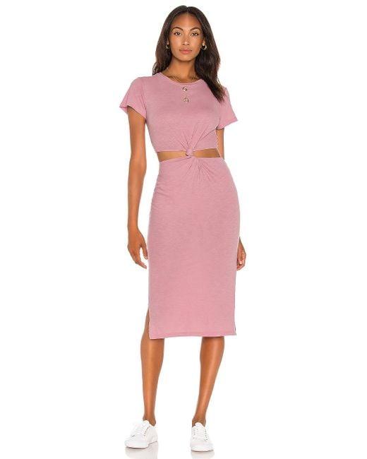 LNA Rowan Tシャツドレス Pink