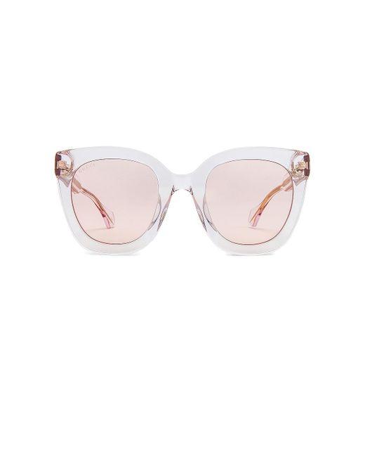Gucci Round Square サングラス Pink
