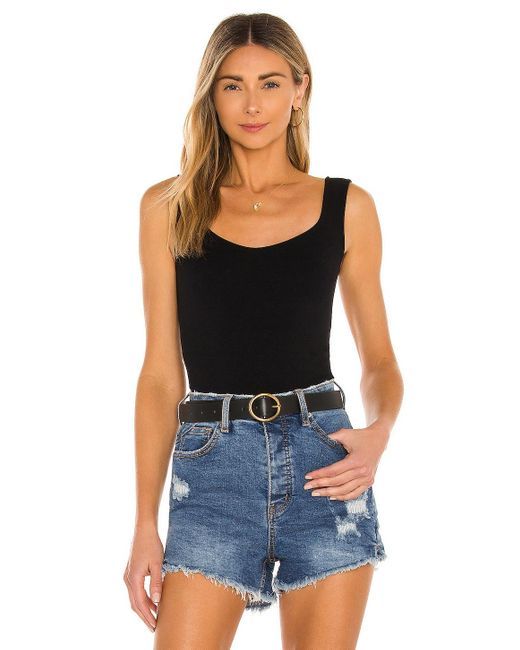 Free People Clean Lines ボディスーツ Black