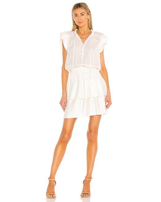 Мини Платье Ruffle В Цвете Soft Ecru 1.STATE, цвет: White