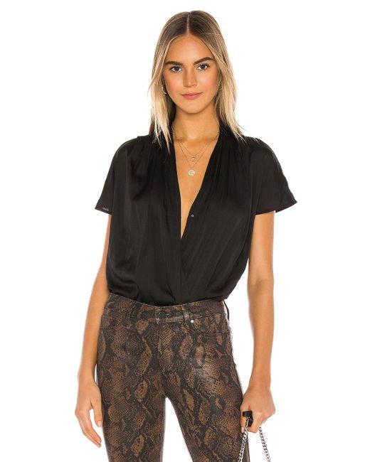 PAIGE Black Dijon Bodysuit